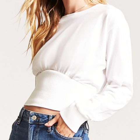 Shirred-Waist Top