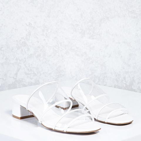 Lucite Strap Heels