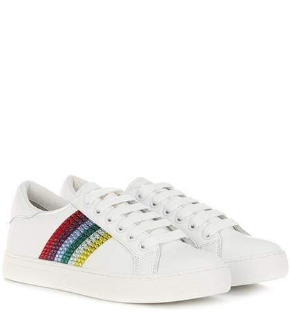 Empire Low embellished leather sneakers