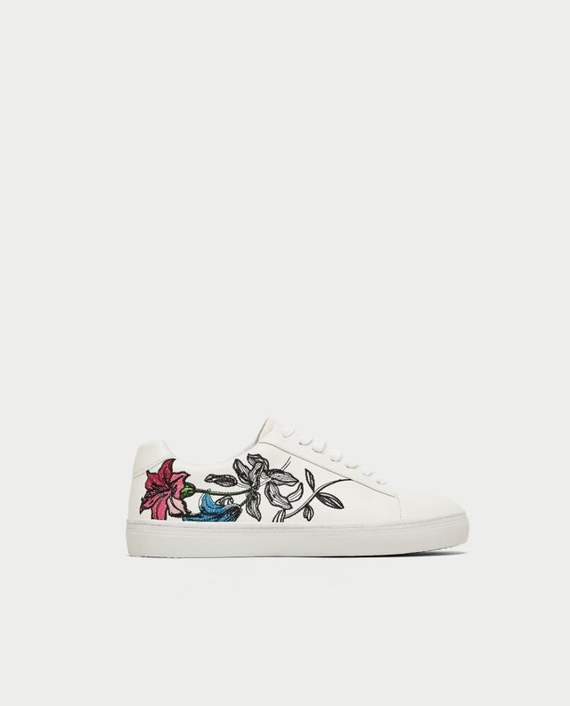 Zara Embroidered Plimsolls