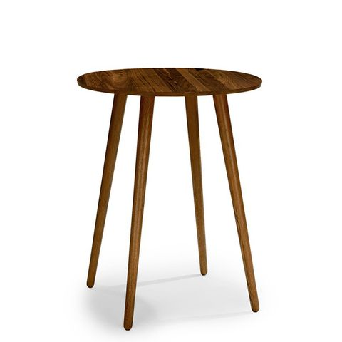 Seno Walnut Round Bar Table