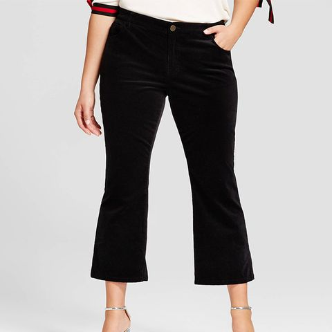 Cropped Flare Cord Pants