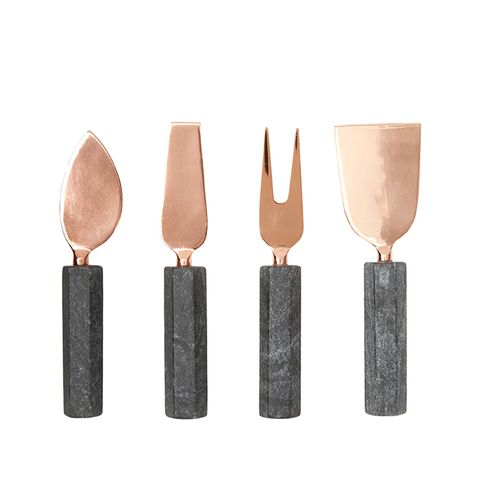 Cheese Knife Set Copper