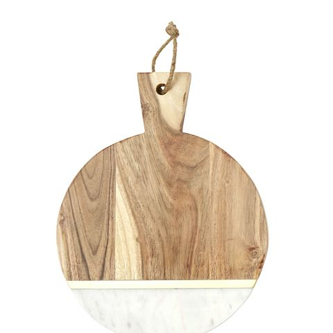Marble and Wood Cheese Cutting Board
