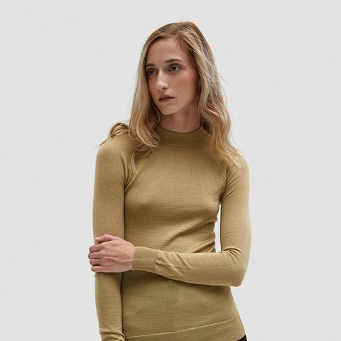 High-Neck Sweater in Light Yellow