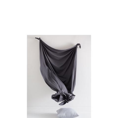 Graphite Linen Quilt Set