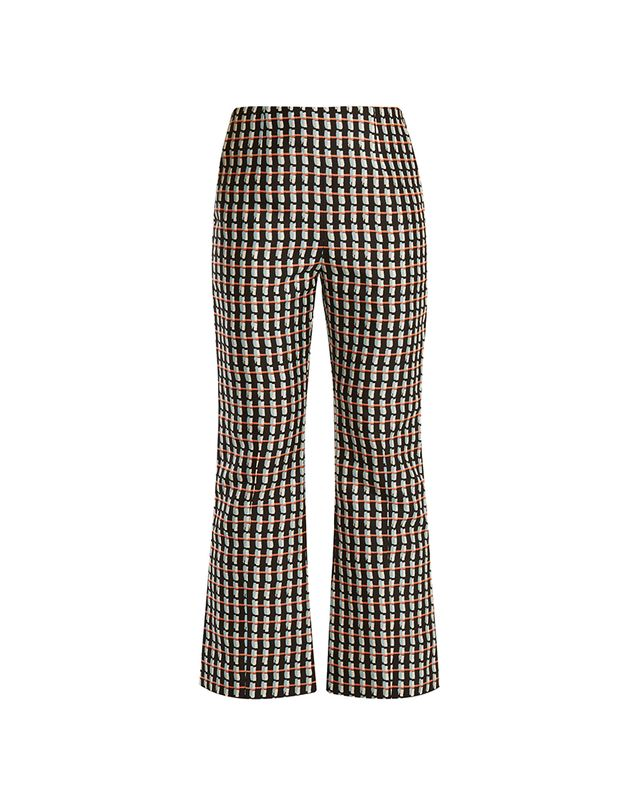 Marni Ripple-Print Kick-Flare Cotton-Blend Trousers