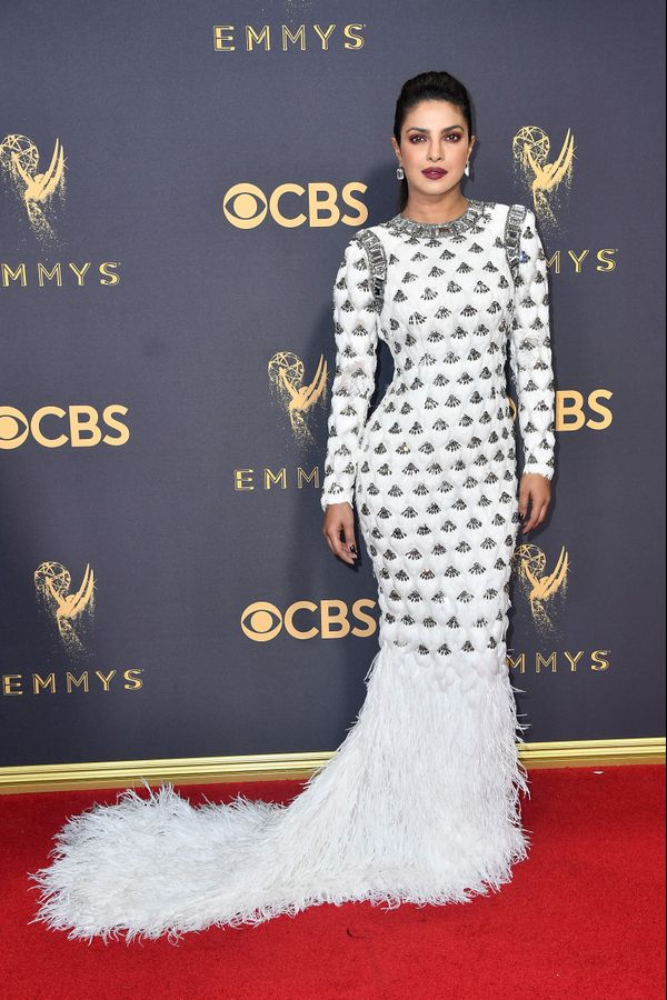 Priyanka Chopra Emmy Awards 2017 Red Carpet Celebrity Looks