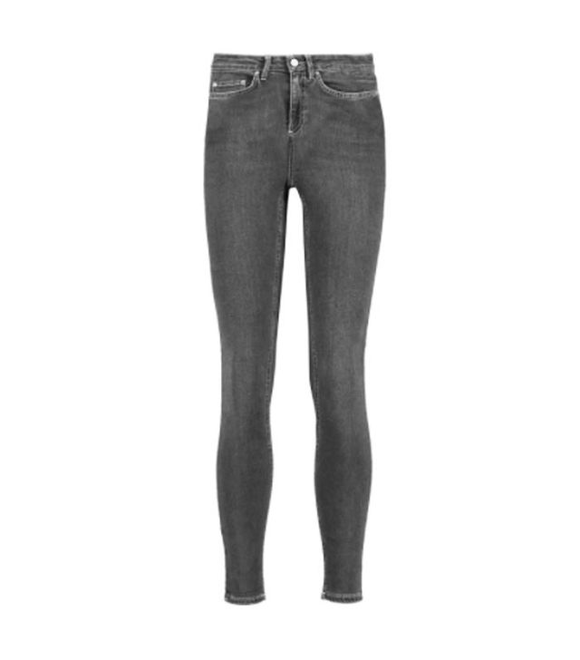 Acne Mid-Rise Cropped Skinny Jeans