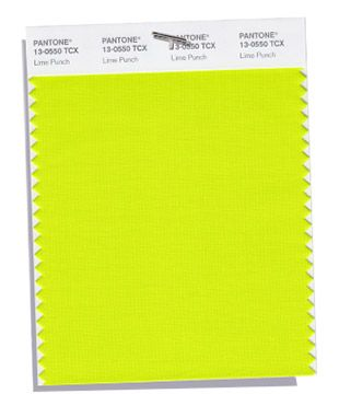 PANTONE 13-0550: Lime Punch