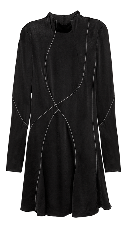 Dress with Stand-up Collar