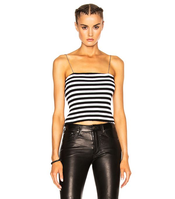 Stripe Chain Stripe Tube Top