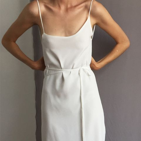 Exclusive Asymmetrical Wrap Cami Dress