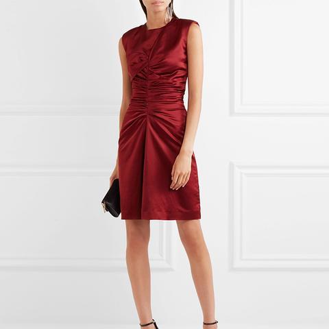 Esta Ruched Satin Dress