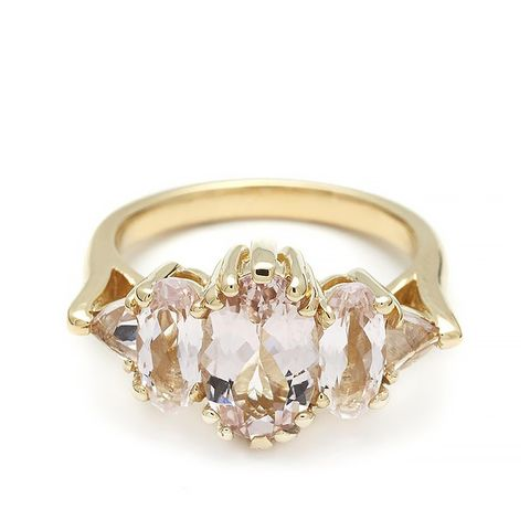 Theda Ring in Oval Pink Morganite