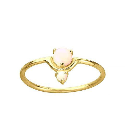 Blush Nestled Opals Ring