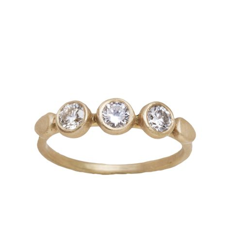 Yellow Gold Champagne Diamond Ring