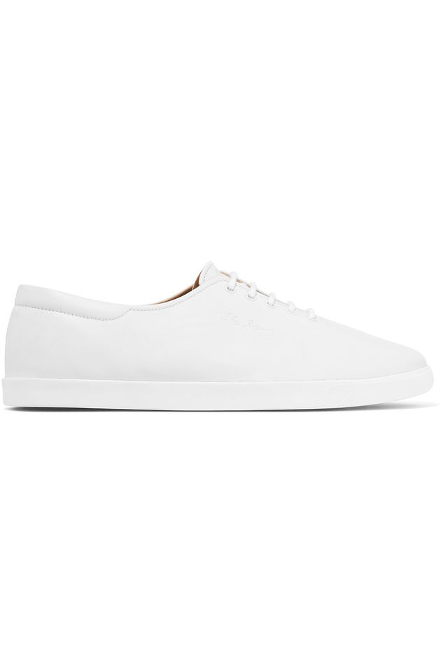Dean Embroidered Leather Sneakers