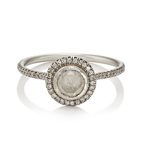 Opaque White Diamond Ring
