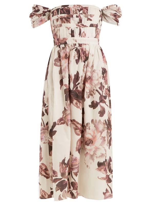 Demi floral-print cotton dress