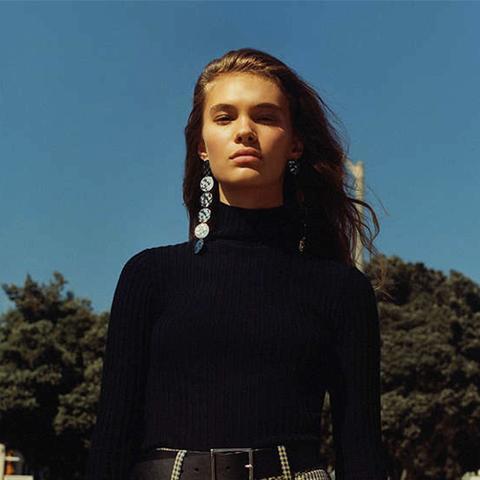 Macy Ribbed Knit Turtleneck Sweater