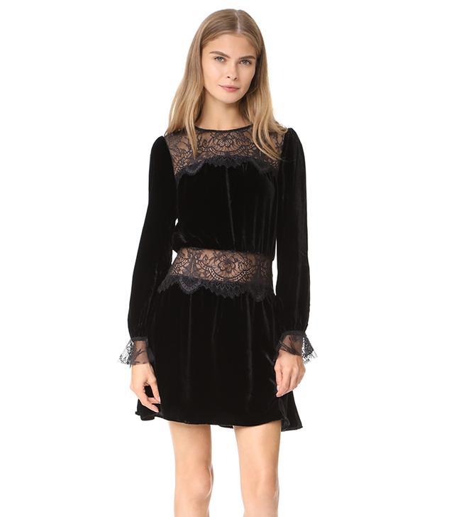 Beatrix Velvet Lace Dress
