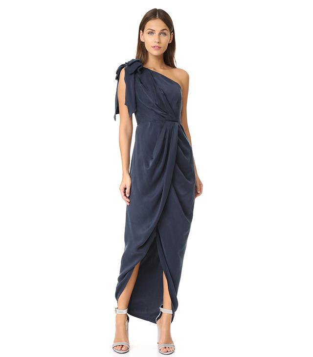 Bow Bodice Long Dress