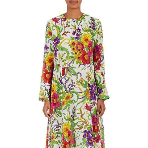 Slide Silk-Blend Dress