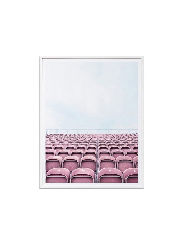 Middle of Nowhere Arena Dusty Pink Photographic Print