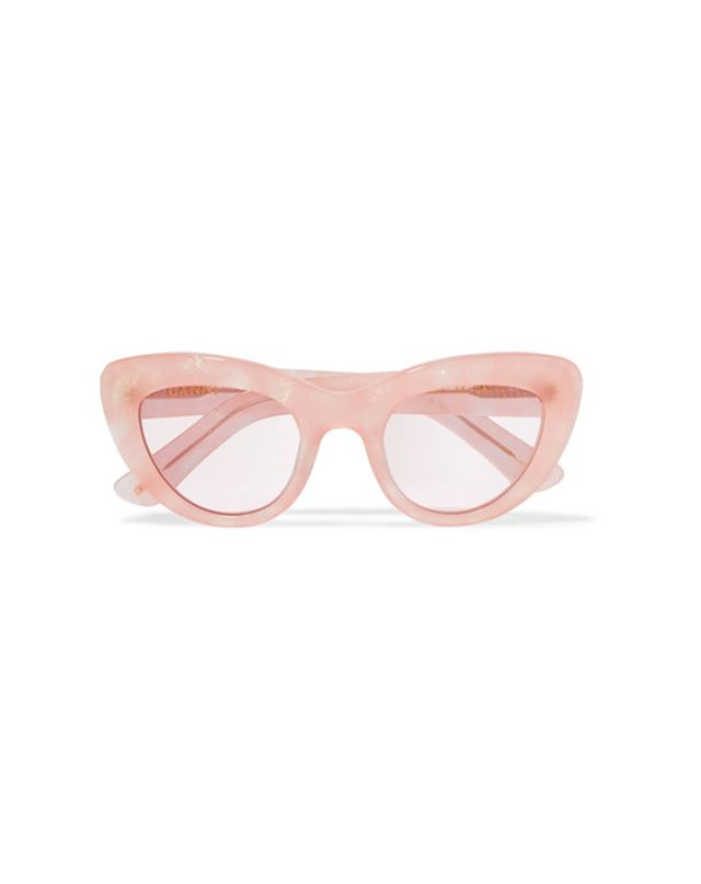 Ganni May Cat-Eye Glittered Acetate Sunglasses