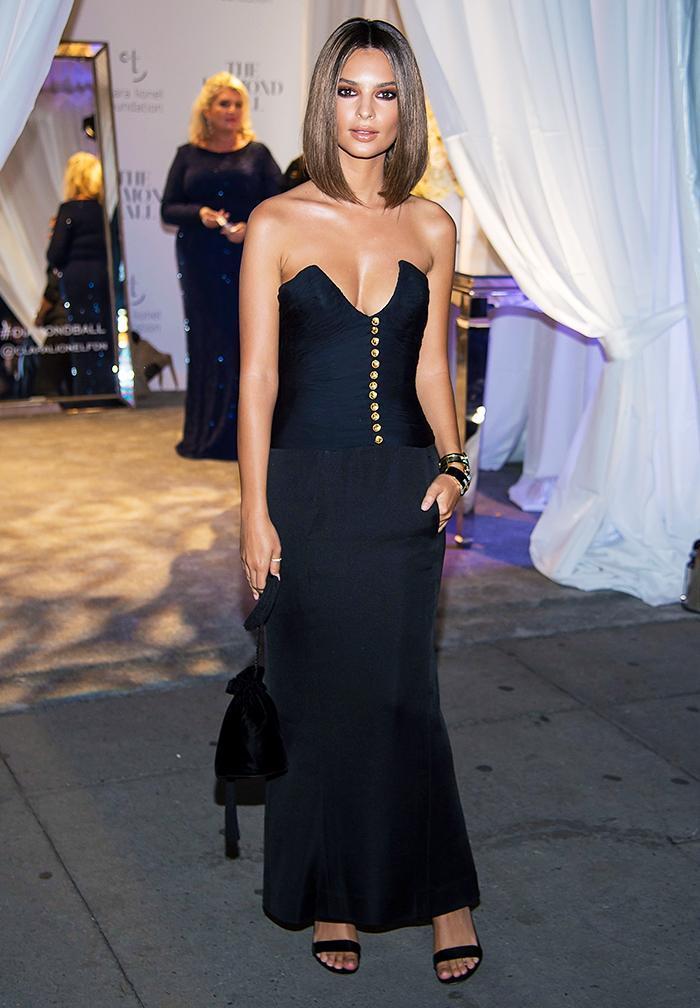 Emily Ratajkowski Victoria Beckham style: Emily Ratajkowski in Vintage Chanel