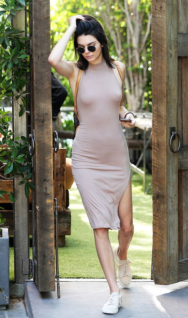 No-bra trend: Kendall Jenner