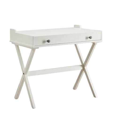 Antique White Wood Dayana Flip Top Desk