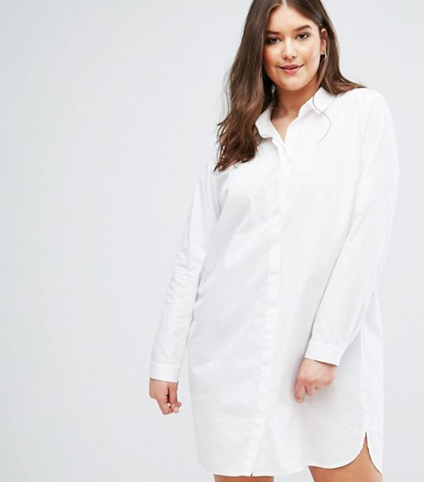 ASOS CURVE Cotton Shirt Dress