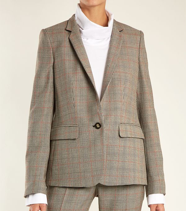 Fleur Prince of Wales-checked wool jacket