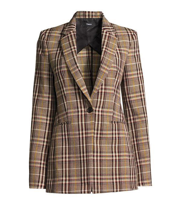 Power Bexley Plaid Wool Blazer Jacket