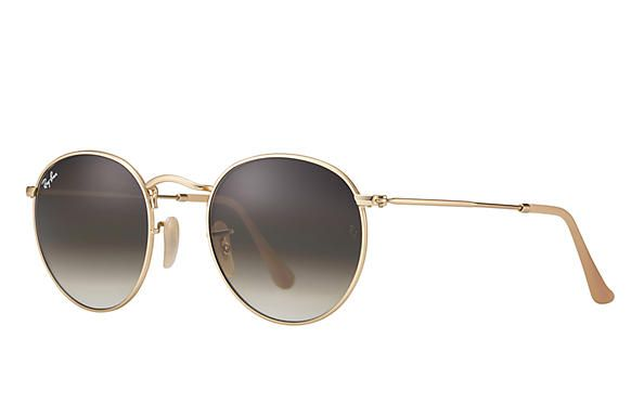 Ray-Ban Round Metal Light Brown Gradient Sunglasses