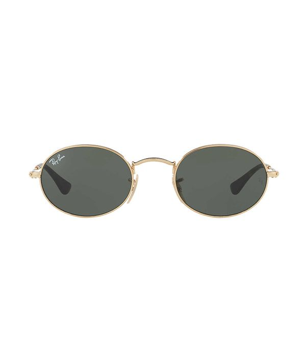 Gold Oval Sunglasses - rb3547n