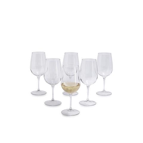 White Wine Glasses, Set of 6