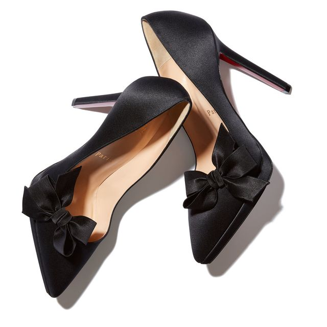 Christian Louboutin x Goop Bow T Satin Heels