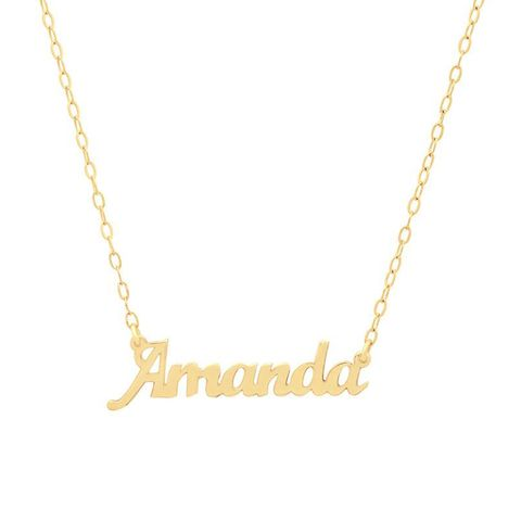 Dainty Nameplate Necklace