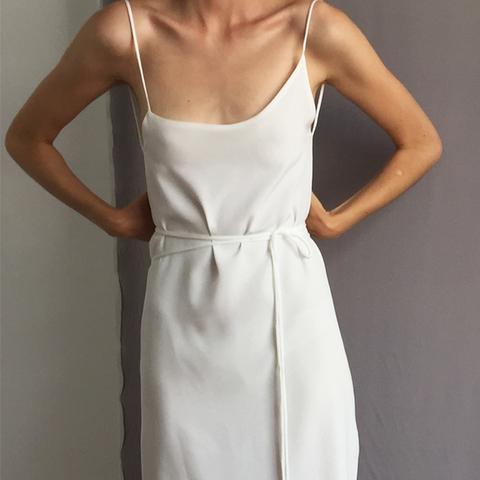 Exclusive Asymmetrical Wrap Cami Dress