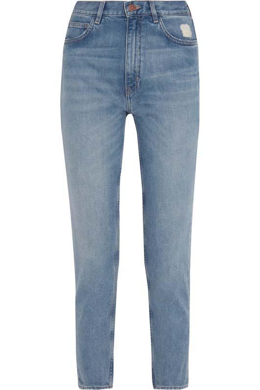Mimi Cropped Distressed High-rise Slim-leg Jeans