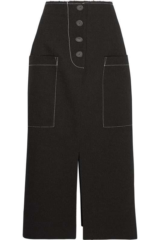 Carmen Crepe Midi Skirt