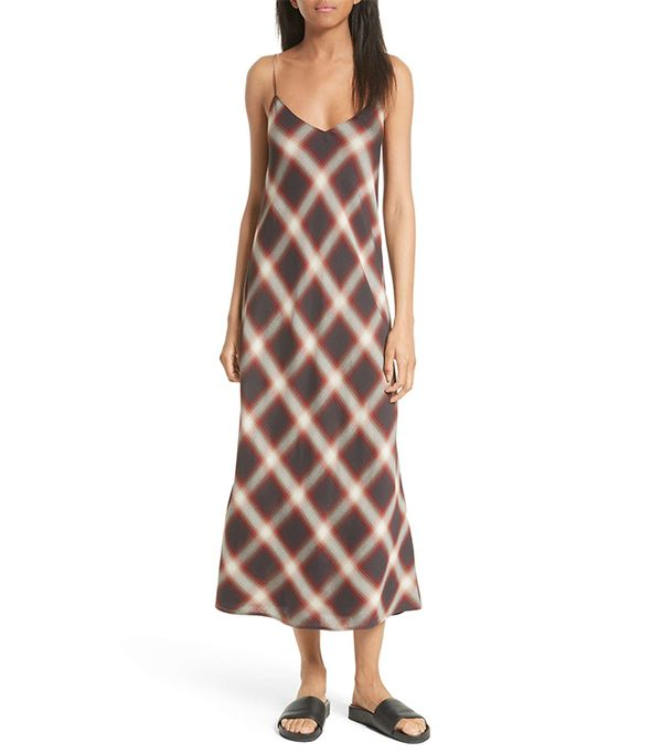 Plaid Midi Slipdress