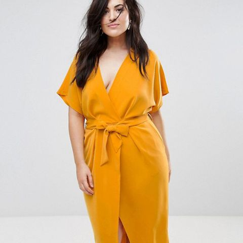 Wrapover Pencil Dress