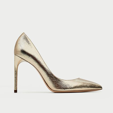 Gold Colored Court Shoes