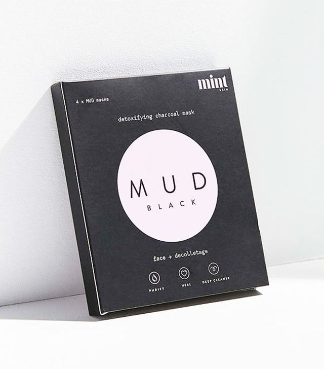 Mint Skin Mask 4-Pack in Mud Black - mud masks for fall