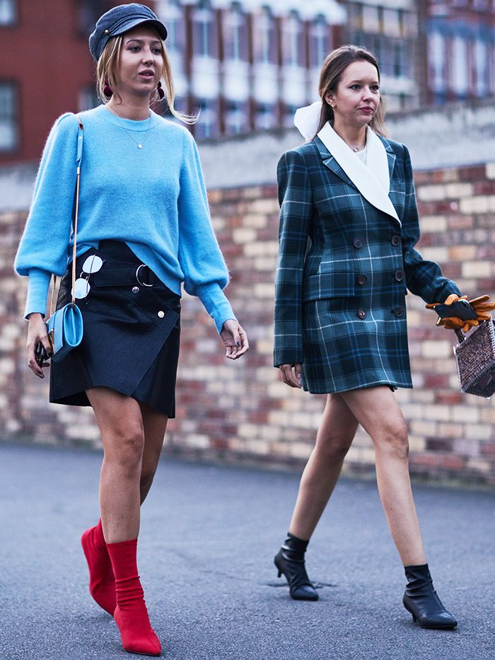Zara Red Sock Boots Trend: '60s style