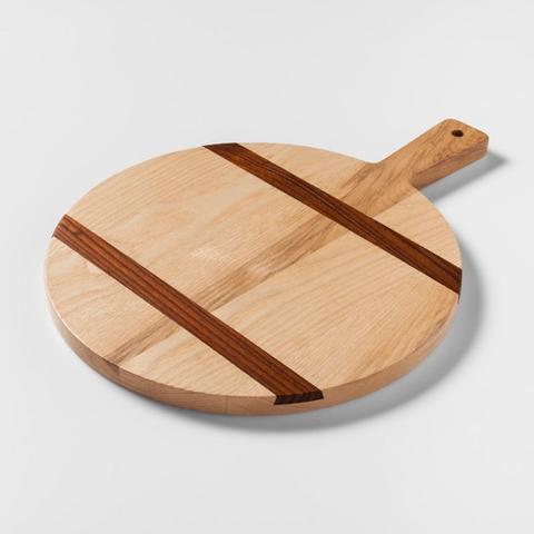 Two-Tone Wood Inlay Round Cutting Board